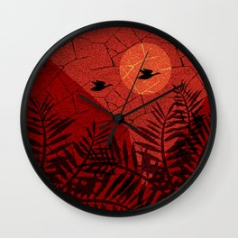 beautiful sunset. Wall Clock