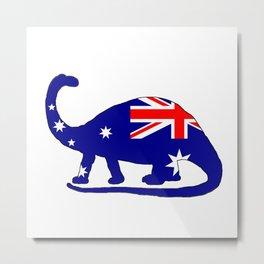 Australian Flag - Brontosaurus Metal Print