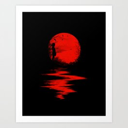 The Land of the Rising Sun Art Print