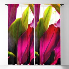 Ti Leaf Bouquet Blackout Curtain