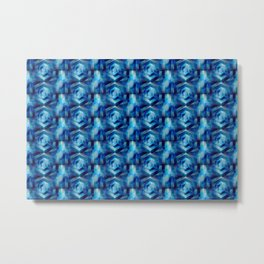 Blue Geometric Space Print Metal Print