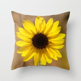 Sunflower In The Countryside Throw Pillow