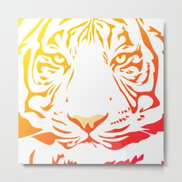 Tiger Art Metal Print