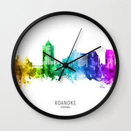 Roanoke Virginia Skyline Wall Clock