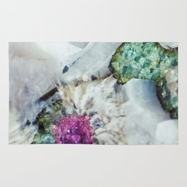 Colorful watermelon tourmaline crystal, macro #society6 Rug