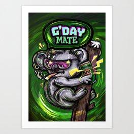 Australian Koala - Strewth. Art Print