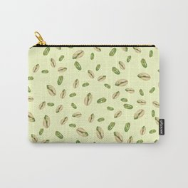 watercolor green and yellow pistachios Carry-All Pouch
