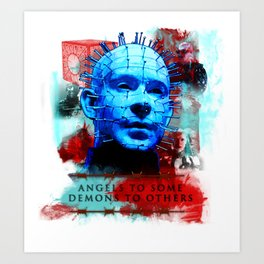 "Hellraiser Pinhead ""Angels to Some"" Art Print"