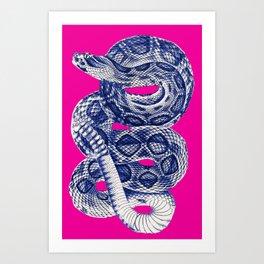 HOMEMADE BLUE SNAKE PATTERN Art Print