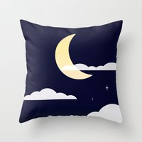 night sky Throw Pillows featuring Night Sky by jozi.art