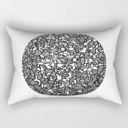 bowl of portraits Rectangular Pillow