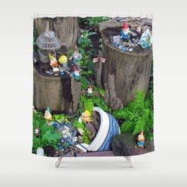 Dwarf/Gnome Mining Camp Shower Curtain
