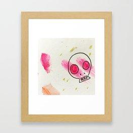 Candied Skull Framed Art Print