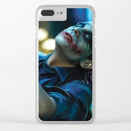 Joker Heath Ledger Clear iPhone Case