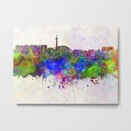Kyoto skyline in watercolor background Metal Print