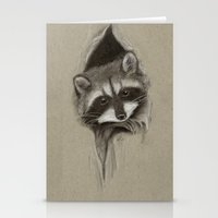 raccoon Stationery Cards featuring Raccoon by Daydreamer
