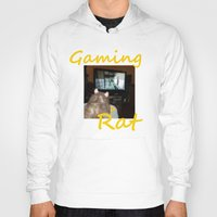 gaming Hoodies featuring gaming rat by Mindgoop