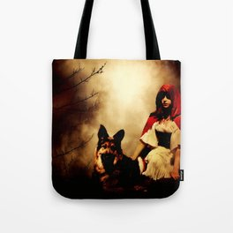 Red and Her Wolf Tote Bag