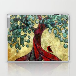 Red Oak Tree with Birdie Laptop & iPad Skin