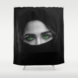 Black and white painting - Woman in Veil - Jeanpaul Ferro Shower Curtain
