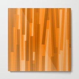 Geometric Brown Gold Painting Metal Print