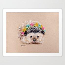 Spring Hedgehog Art Print