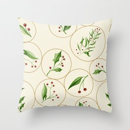 Berries Baubles #society6 #xmas Throw Pillow