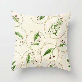 Berries Baubles Throw Pillow