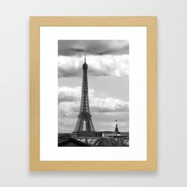 Eiffel Tower from rooftop of Galeries Lafayette Framed Art Print
