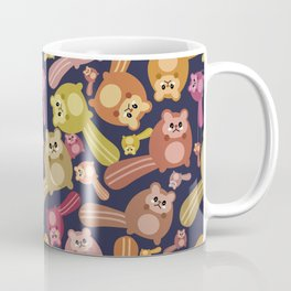 Crazy squirrel mess pattern Coffee Mug