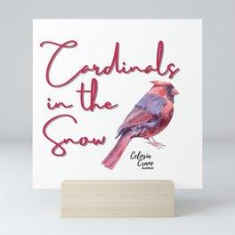 Cardinals In the Snow By Celosia Crane Mini Art Print