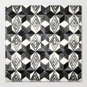 Shibori Diamond Stars Black Earth and Ivory by followmeinstead