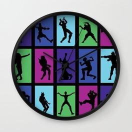 Fort Battle Dance Nite Royale Wall Clock