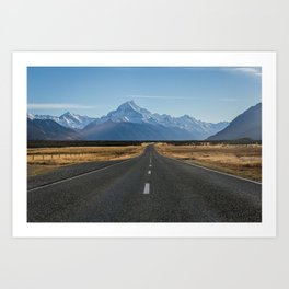 On our way to Mount Cook Art Print