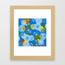 Blue Bubbles Framed Art Print