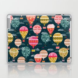 Hot Air Balloons - Retro, Vintage-inspired Print and Pattern by Andrea Lauren Laptop & iPad Skin
