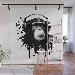 Monkey Business - White Wall Mural