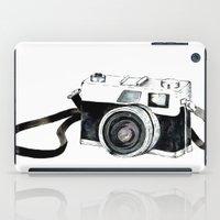 vintage camera iPad Cases featuring Vintage camera  by Bridget Davidson