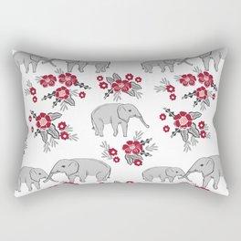 Alabama university crimson tide elephant pattern college sports alumni gifts Rectangular Pillow