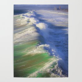 Breaking Waves Poster