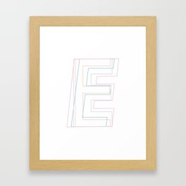 Intertwined Strength and Elegance of the Letter E Framed Art Print