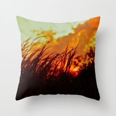 Sunset Brings the Wind Throw Pillow