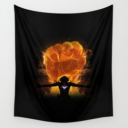 Fire Fist Wall Tapestry