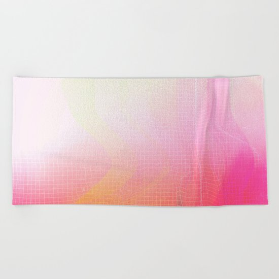 Glitch 23 Beach Towel