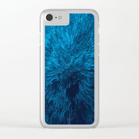 Bold Burst in Blue Clear iPhone Case