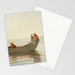 Winslow Homer - Three Boys in a Dory with Lobster Pots Stationery Cards