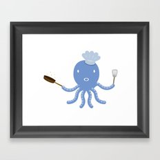 Octopus shef Framed Art Print