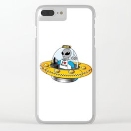 Alien Taxi Clear iPhone Case