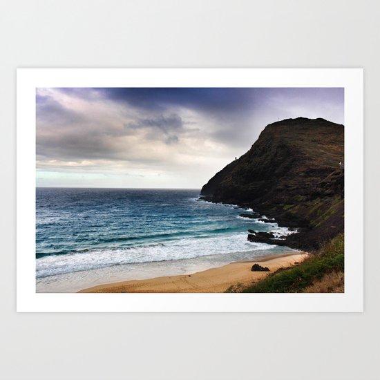 Lighthouse @ Oahu Art Print