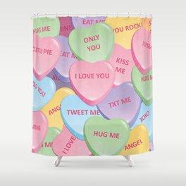 Valentine's candies Shower Curtain